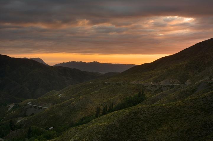 Sunrise above Villavicencio