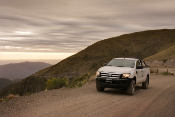 The altitude increases but the Ford's turbo diesel doesn't seem to notice.