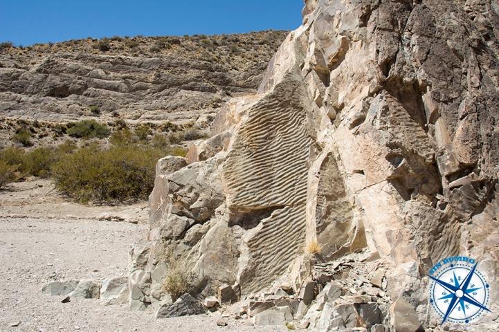 Wave pattern in the rocks