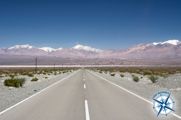 The road to the Barreal Blanco