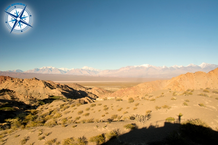 The sun is rising on park El Leoncito, here looking west towards the Andes.