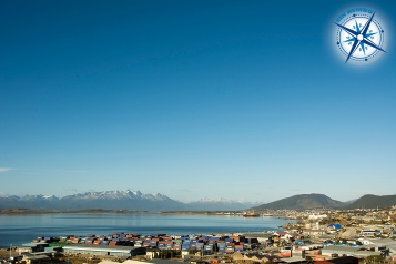The city of Ushuaia early in the morning.