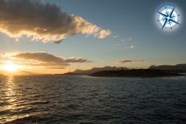 Leaving Martillo island - Ushuaia.