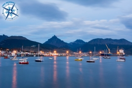 Ushuaia at night.