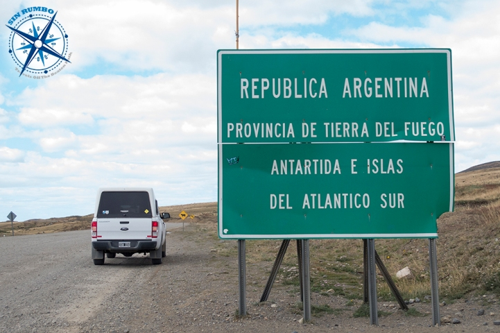 Entering Argentina's Tierra Del Fuego from Chile. One more un-paved road.