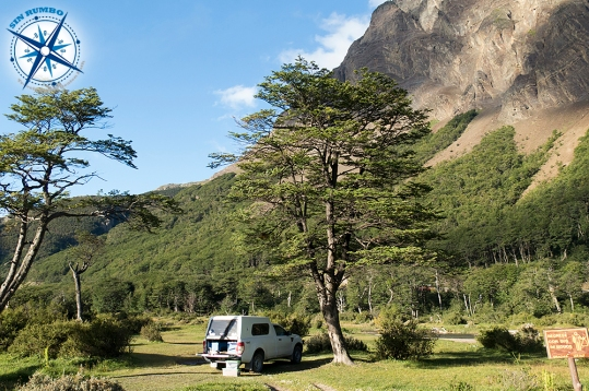 Our camping spot outside Ushuaia along Ruta 3.