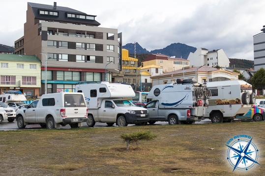Boondocking (free camping) along the ocean in Ushuaia.