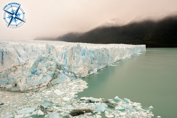 I have a number of photos of the Perito Moreno glacier. It is an impressive sight and photos can't do justice to its size and beauty. I chose this one because the debris in front give perspective to the image, as well as convey the feeling that the glacier is alive, breaking, and advancing. I don't mind the cloudy sky as it prevents the eye from wandering away and keeps the viewer focused on the ice.