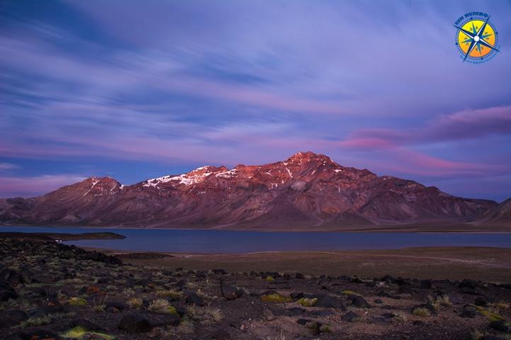 After dark at the Laguna Del Diamante, Mendoza, Argentina