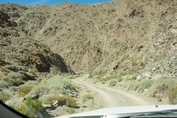 Entering the Quebrada on Ruta 153.