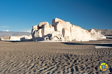 Pumice rock formation in the protected natural area of Campo de Piedra Pomez, Catamarca, Argentina.